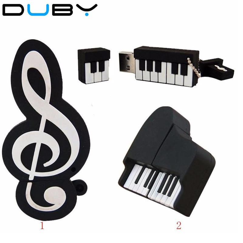 pendrives cartoon piano model usb 2.0 usb flash drive pen drive 4gb 8gb 16gb 32gb 64gb Silicone u disk