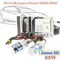 Frete Grátis! 55 W Xenon ESCONDEU Kit Escudo de Alumínio Da Lâmpada Lastro 3000 K-15000 K DC Cabeça de Luz Do Farol Do Carro Para VW Passat 2002-2010