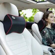 Удобная автомобильная Кожаная подушка для шеи, супер мягкая подушка с эффектом памяти, чехол для сиденья, подголовник для подголовника