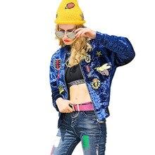 2017 Women Bombers Jacket Thicker Floral Punk Autumn Winter Baseball Jackets Fringe Basic Coat Boho Ladies College Windbreakers