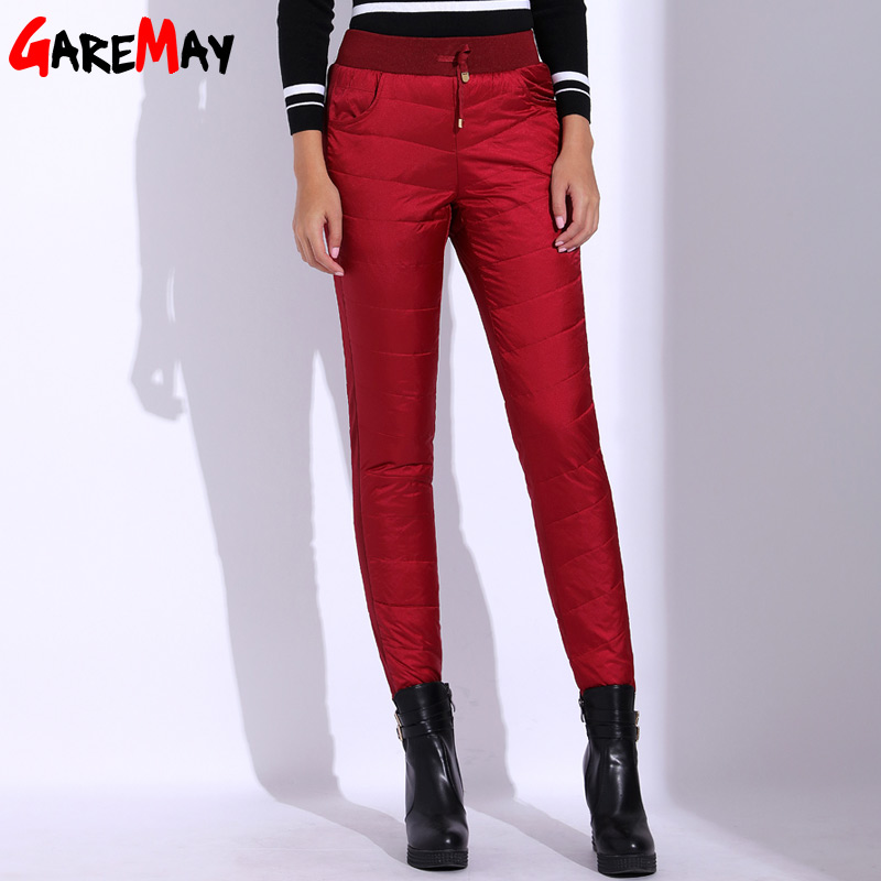 Winter Warm Pants Women Velvet Plus Size Trousers High ...