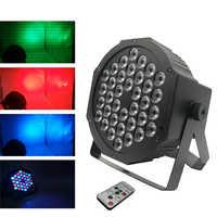 Envío rápido LED 36x3W RGBW LED Par plana RGBW Color mezcla DJ Luz de lavado etapa Uplighting KTV disco DJ DMX512 Lámpara decorativa