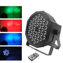 Led rápido 36x3w rgbw, led plana par rgbw colorida mistura dj lavar luz palco uplhting ktv disco dj dmx512 lâmpada decorativa