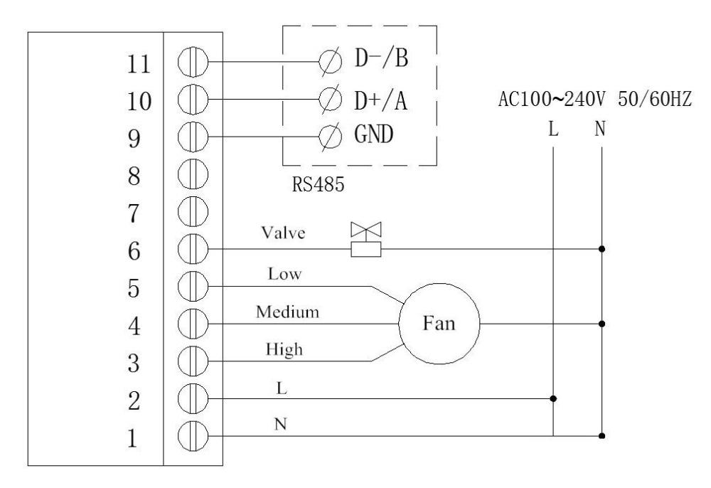 US $18.3 30% OFF|ZL HV60AR, Modubs FCU controller, RS485 Thermostat, on