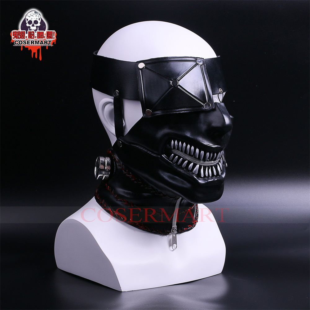 newest tokyo ghoul 2 kaneki ken masks latex zipper adjustable cosplay cool masks halloween party in costume accessories from novelty special use on - Cool Masks For Halloween