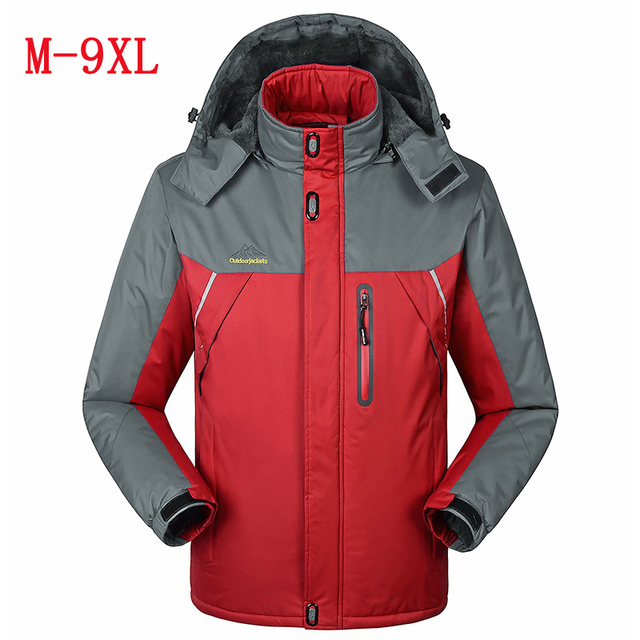 new winter big yards Plus thick velvet Men's coat jacket Wind and waterproof warm Cold casual jacket size L-6XL7XL8XL9XL
