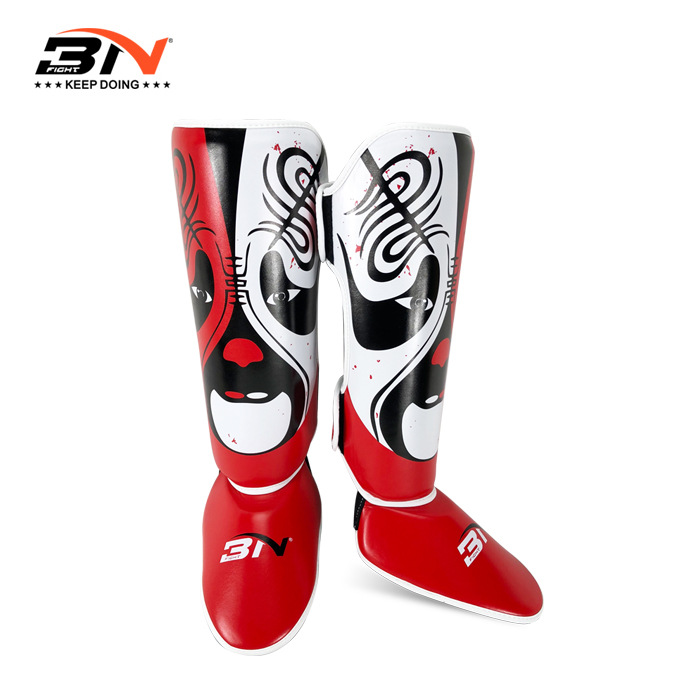 BNPRO Chinese Featured MMA Boxing Shin Guards Muay Thai Kickboxing Leg Sleeve Protector Pads Protection Leggings Equipment DBE wesing muay thai shin guards mma shin instep guard knee pads protective training kickboxing leg sleeves plus size xl