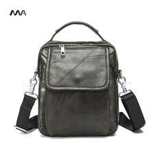 MVA Männer Echtledertasche Crossbody Schulter Taschen Männer Messenger Bags herren Ledertasche Tasche Beiläufige Handtaschen