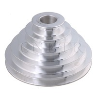 CNBTR 54mm To 150mm Outter Dia 28mm Bore Width 12 7mm Aluminum 5 Step Pagoda Pulley