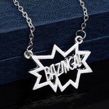 The Big Bang Theory BAZINGA Shaped Pendant Necklace