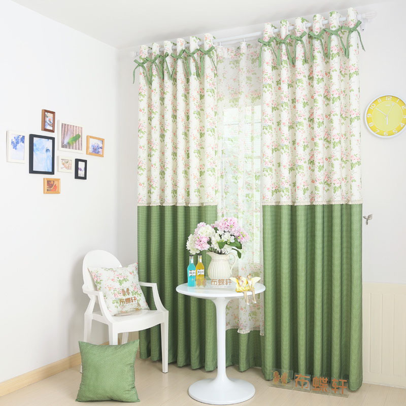 Online Shop Lace Bedroom Window Curtains Polka Dot Drapes Panel For Living  Room Green Flower Cafe Curtains Set Grommet Thermal Home Curtains |  Aliexpress ...