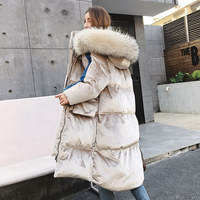 2018 Winter New Loose BF Thick Long Women Coat Hooded Ladies Sustans Parkas Women