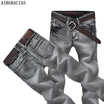 AIRGRACIAS Herren Jeans Klassische Retro Nostalgie Gerade Denim Jeans Männer Plus Größe 28-38 Männer Lange Hosen Hosen Marke biker Jean