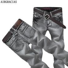 AIRGRACIAS Jean pour hommes, pantalon classique de marque Biker, Long pour homme, Jean droit, style rétro nostalgique, grande taille 28 38