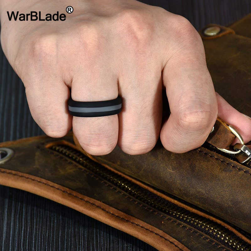 WBL Silicone Ring Men Women Engagement Wedding Rings Colorful Three Layered Hypoallergenic Crossfit Flexible Rubber Finger Rings