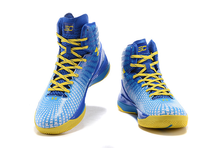 2015 Christmas White Blue Yellow Stephen Curry 1 One Basketball ...