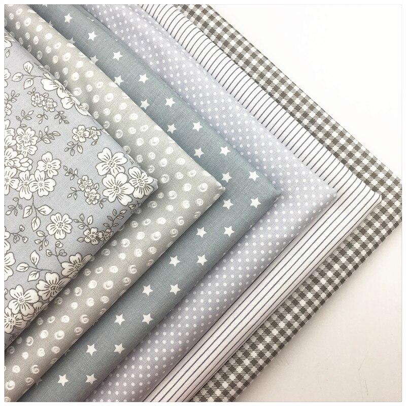 Tissu de coton à rayures à pois gris, bricolage, couture, Patchwork, Quilting, tissu de poupée, matériel de couture fait à la main, Telas à Patchwork