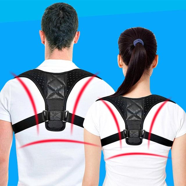 Adjustable Medical Men/women Back Posture Corrector Clavicle Spine Back Shoulder Lumbar Brace Support Belt Posture Correction 03