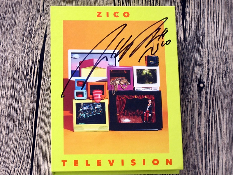 block b zico autographed