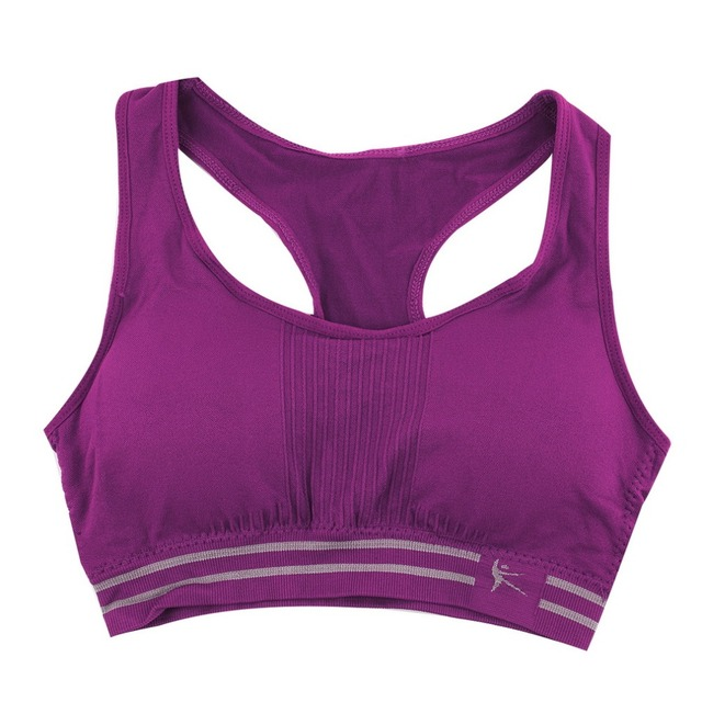 Absorb Sweat Quick Drying Sports Gym Bra Fitness Padded Stretch Workout Top Vest Running Wireless Yoga Underwear Women Female