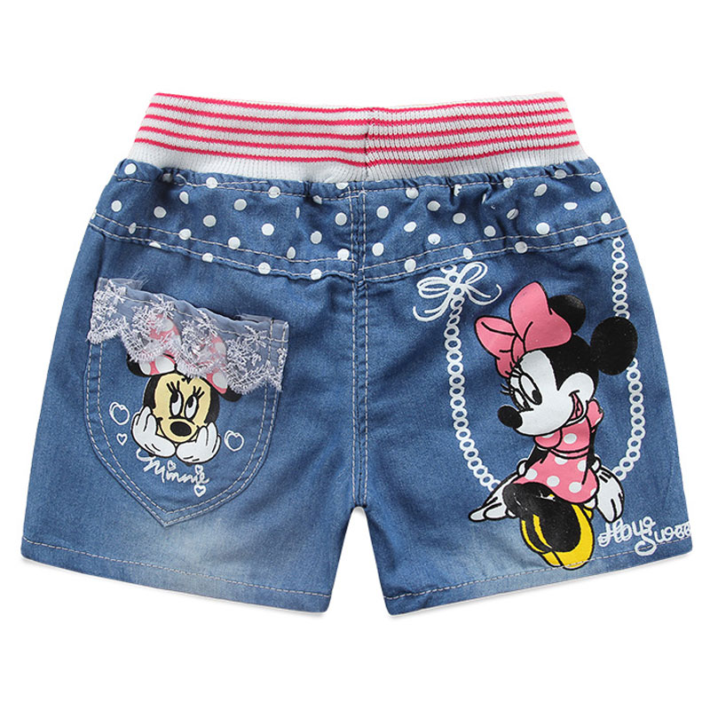 Baby Girls   Shorts   Summer Spring 2019 Children Minnie Mouse   Shorts   Kids Thin Jeans For Girls Cartoon Clothes Toddlers Girls Pants