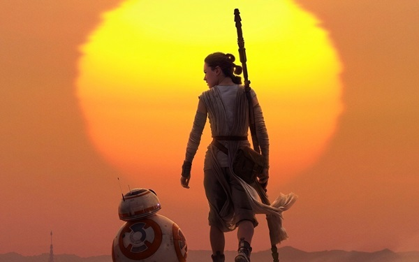 Paintings Canvas Painting Cuadros Rey Star Wars The Force Awakens Beautiful Sunset 4 Sizes Home Decoration Canvas Poster Print