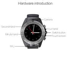 SW007 Bluetooth Smart Watch Clock, Support SIM, TF card, Alarm, Camera, Facebook