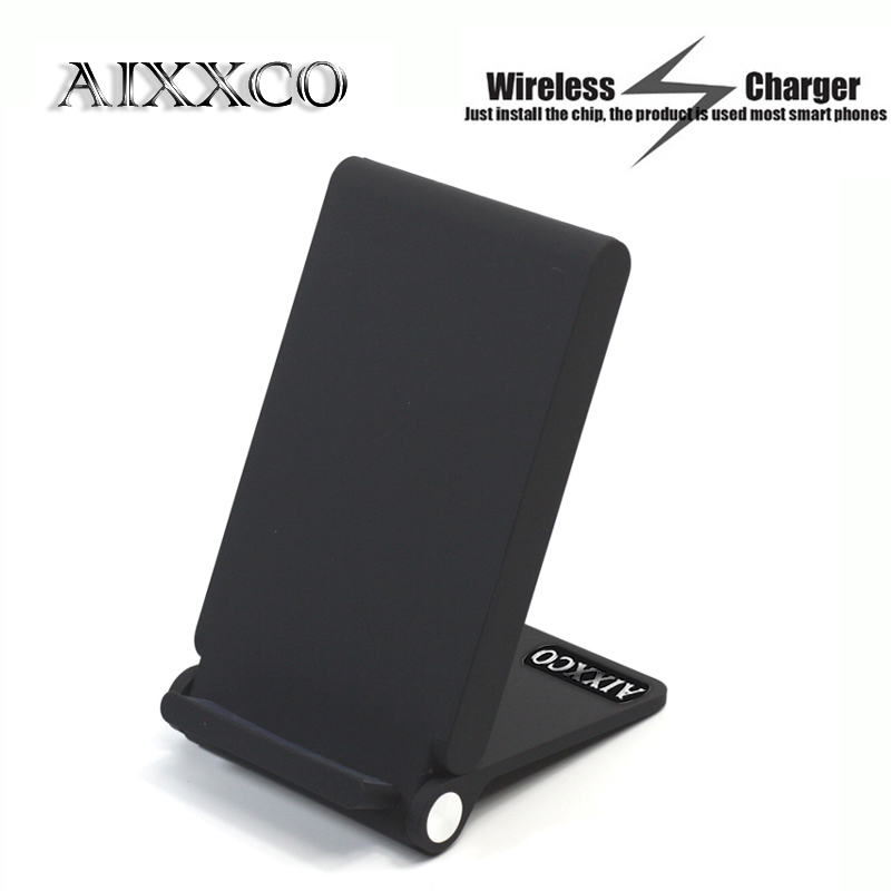 Aixxco Qi Drahtlose Ladegerät 3 Spulen Falten Lade Stehen Für Samsung Galaxy S6 Rand Plus/note5/s7/ S7 Rand/s8 Handy-zubehör
