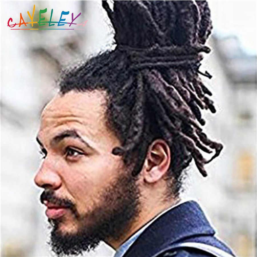 Косички для наращивания волос Cateleya, синтетические косички дредлока, синий, желтый, многоцветный
