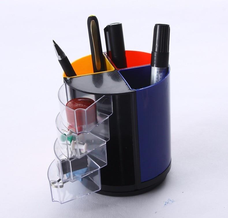 Desk Tidy plastic multi function pen holder vase pencil pot stationery desk