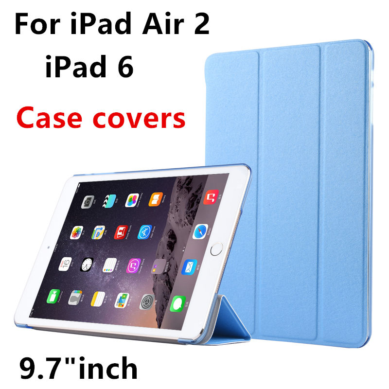 Case For Apple iPad air 2 Protective Smart cover Leather PU Tablet For iPad Air2 iPad 6 Protector Sleeve cases Covers 9.7 inch