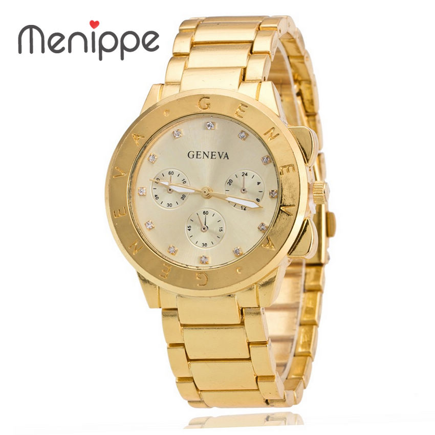 2019 New Luxury Geneva Watch Delicate And Elegant Man Woman Watches Three Eye Alloy Steel Crystal Lady Dress Watches