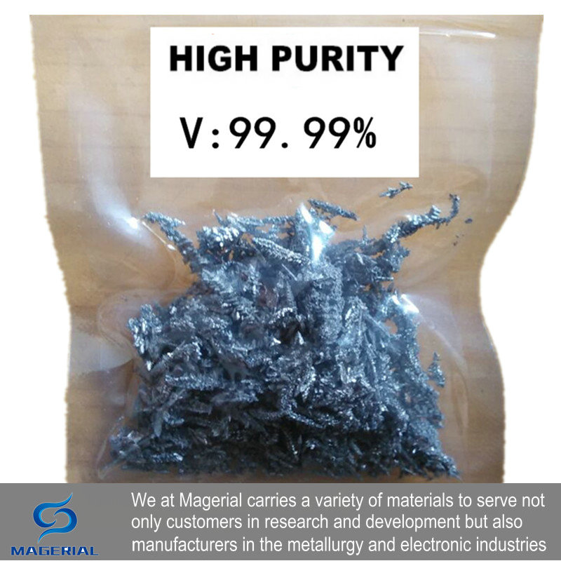 High Purity Vanadium 4N V Grain 99.99% For Research And Development Element Metal Simple Substance