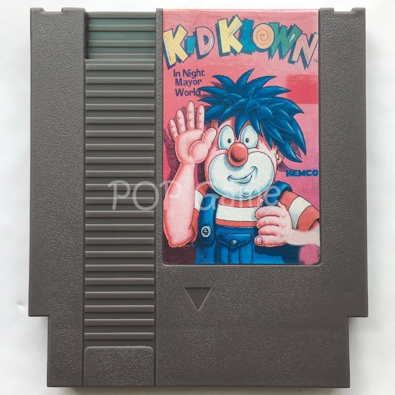 Kid Klown in Night Mayor World 72 Pin  Game Cartridge for 8 Bit Video Game Console Region Free English Language