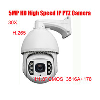 30X HD 5mp IP PTZ High Speed Dome Outdoor Camera Mini Pan Tilt Zoom Onvif Network