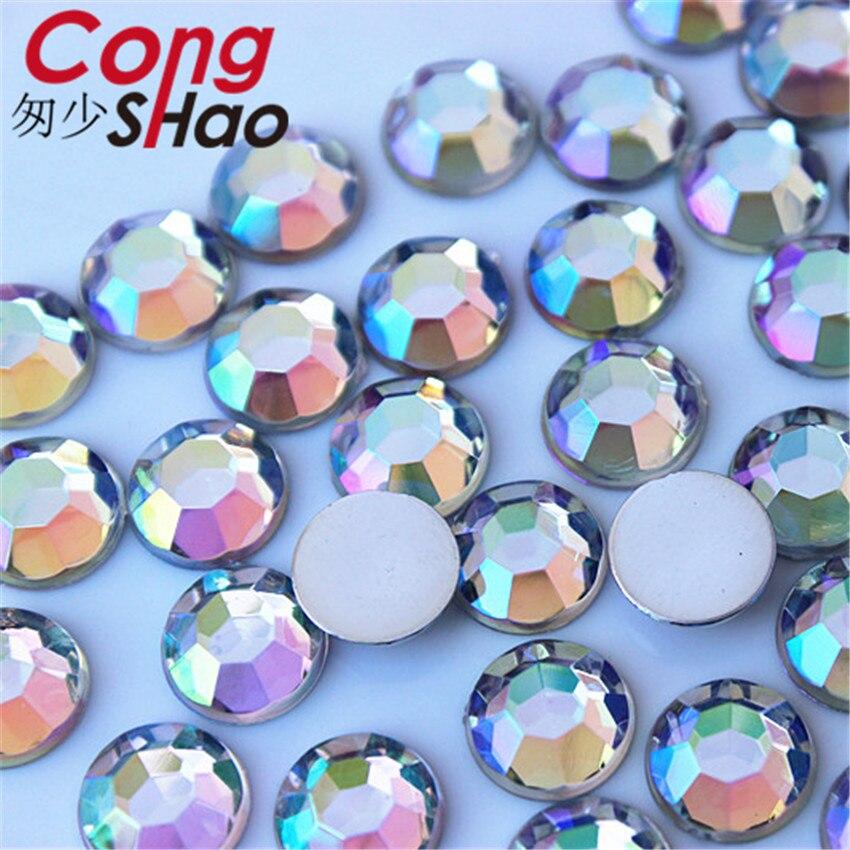 Pedrería Acrílico Uñas Redondo Artesanía Gemas Diamante