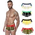 Nueva moda calzoncillos de los hombres atractivos boxers underwear pant gay jockstrap bragas bolsa # o