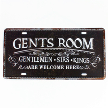 Gents Room Shabby Chic Retro Motorcycle Metal Painting Vintage Car Tin Sign Bar Pub Home Wall Decor Metal Doorplate 30x15cm A547