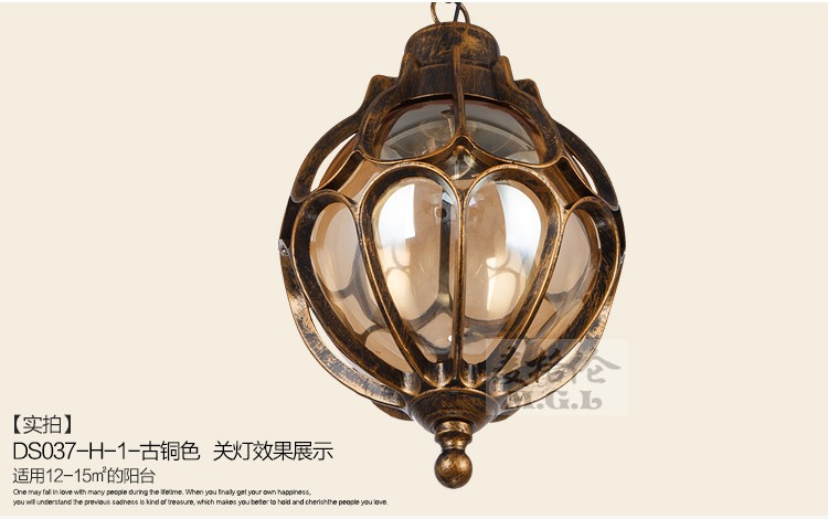Lampadario Allaperto : Impermeabile luci del giardino esterno vintage lampadario giardino