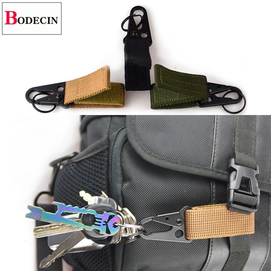 Outdoor Tools EDC Gear Camping Tactical Nylon Belt Clip Keychain Snap Hooks Bushcraft Molle Webbing Buckle Carabiner For Keys (9)