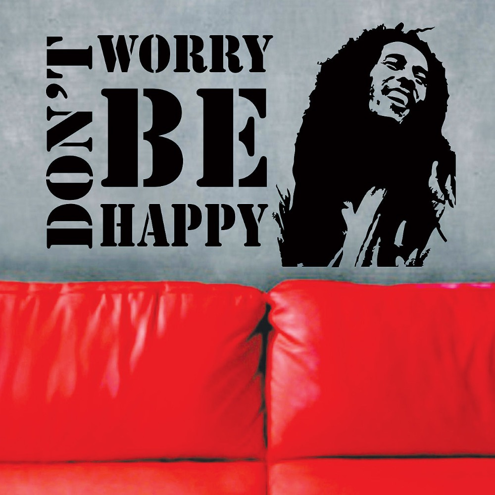 Free Shipping Family Is Vinyl Wall Lettering Quote Wall: Free Shipping Vinyl Wall Decals Don't Worry Be Happy BOB