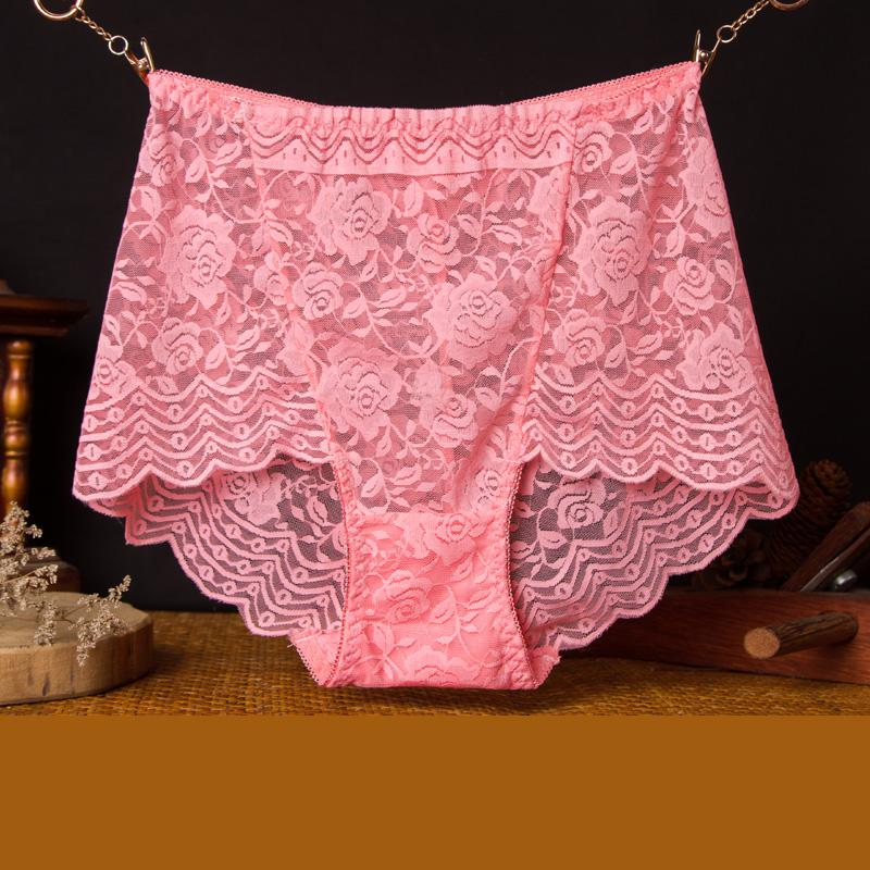 Mozhini Big Size M-3XL Underwear Women Lace Briefs Breathable low Waist Rose Lingerie For Women big Size Panty Lady sexy briefs