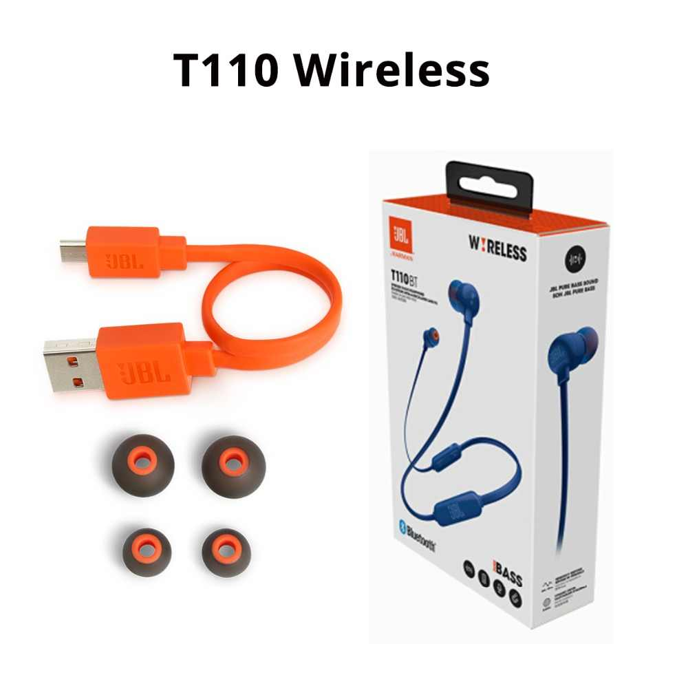 dd3107c7f5d ... JBL T110 In-ear Earphones Wired / Wireless with Microphone Sport Music Pure  Bass Sound