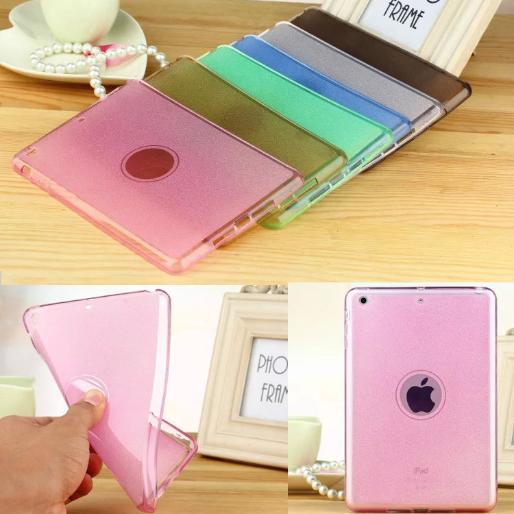 Fashion Soft Clear Transparent TPU Skin Gel Silicone Protective Skin Case Cover for Apple iPad Mini 1 2 3 Luxury Tablet Y2C42D