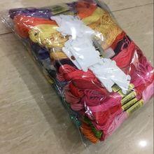 100 цветов шелковые вышивальные нити с буквенными бусинами, вышитая нить, набор спиц для рукоделия, браслет, нить для шитья