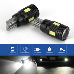 Image 1 - 2x LED Lamps For Cars White T10 5630 6SMD High Power Car Wedge License Plate LED Light Bulbs Width Lamps Reading Panel Lights