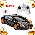 Hotsale 1/24 Bugatti Veyron Carro RC Rei Da Estrada De Corrida do Modelo velocidade Voiture Auto Veículo com Caixa de cor Melhor Presente Brinquedos