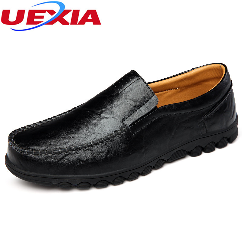 Slip-on Men's Shoes Loafers Casual Driving Shoes Men Leather Mens Flats Sole Breathable Boat Shoes Male Moccasins Zapatos Hombre 2017 new fashion summer spring men driving shoes loafers real leather boat shoes breathable male casual flats