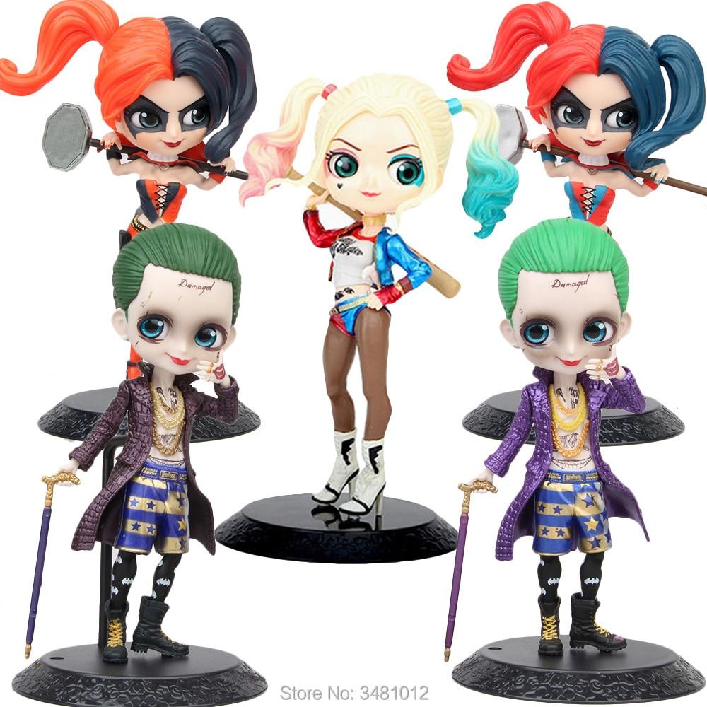15cm Harley Quinn The Joker DC Comics Q Posket Hot Wonder Woman PVC Action Figures Suicide Squad Collectible Dolls Kids Toys