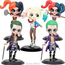 лучшая цена 15cm Harley Quinn the Joker DC Comics Q posket hot Wonder Woman PVC Action Figures Suicide Squad Collectible Dolls Kids Toys